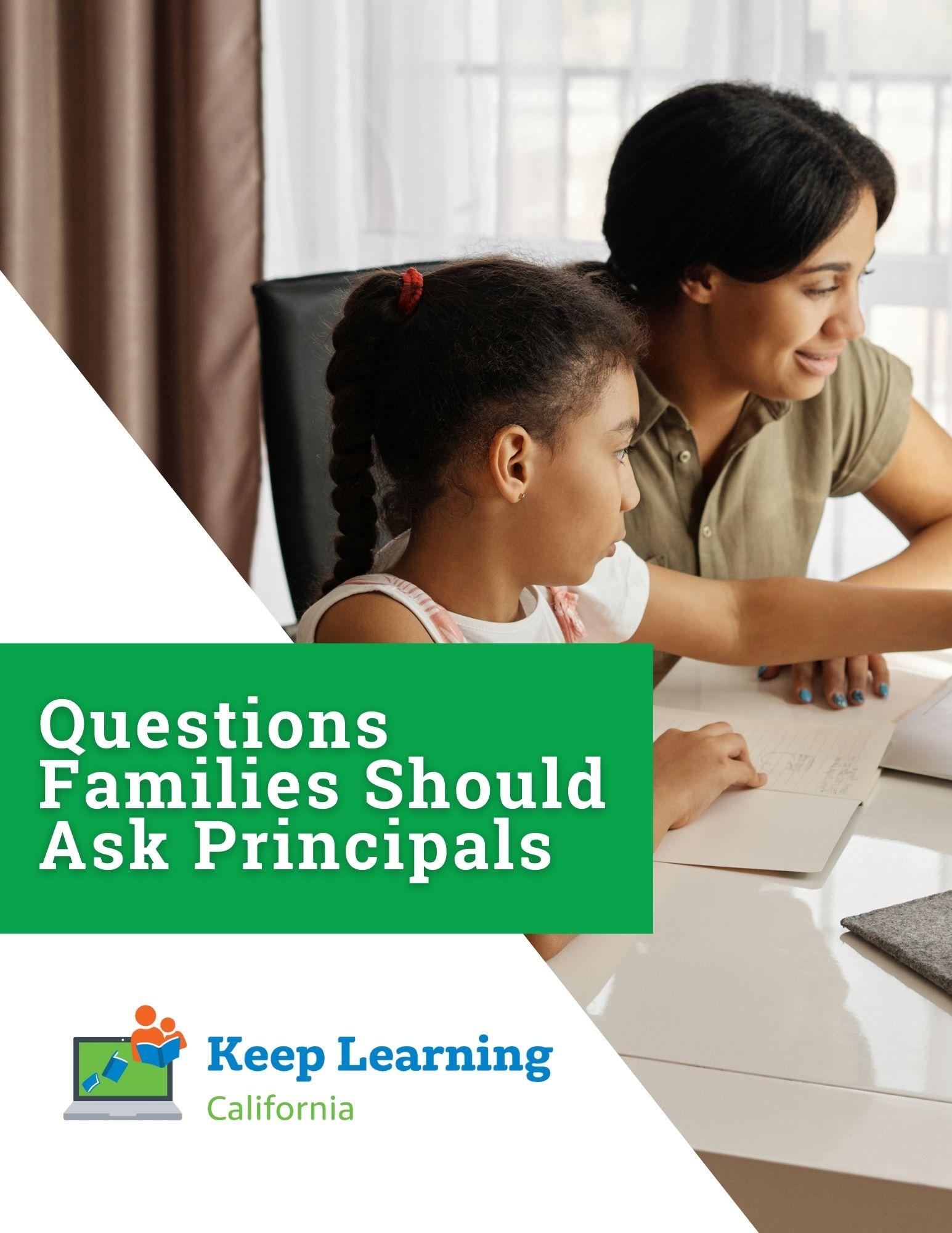 PDF – Questions Families Should Ask Principals